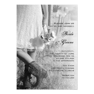 Bride, Cowboy Boots and Sunflowers Wedding