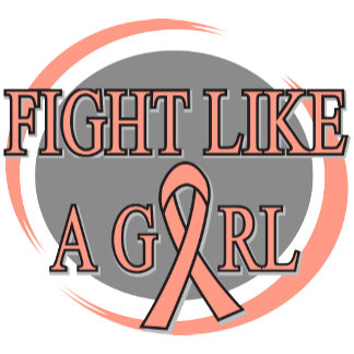 Endometrial Cancer Fight Like A Girl Circular