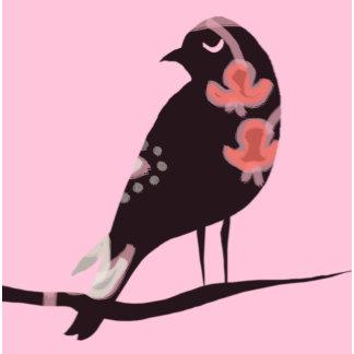 """Brown Bird on Pink Background Poster Print"""