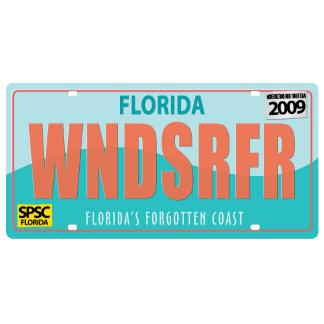 WNDSRFR License Plate