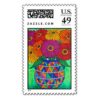 Funky Floral Stamps