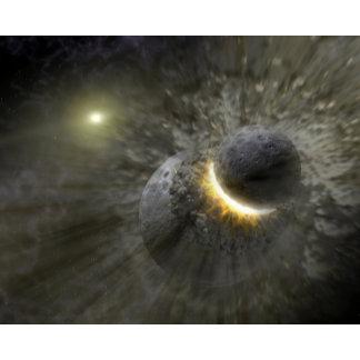 Artist's concept Space Collision at Vega