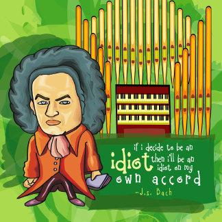 Funny Bach Organist Cartoon