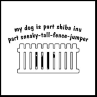 My Dog is Part Shiba Inu Part Fence Jumper