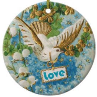 Vintage love dove