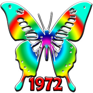 40th Birthday Gifts, 1972 Butterfly!