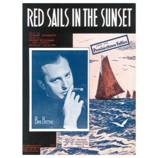 Red Sails In The Sunset - Vintage Song Sheet Art