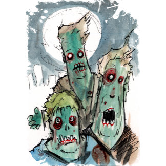 3 sad zombies