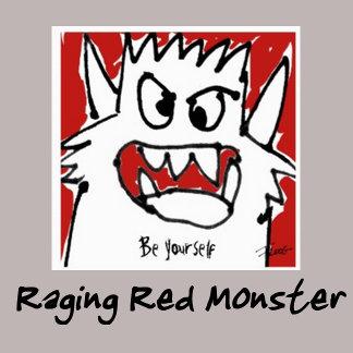 Raging Red Cartoon Monster