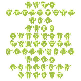 Android Software Developer Robot Font (Upper Case)