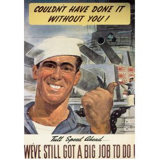 Vintage WWII Patrotism Art