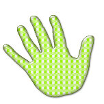 sticker_round - left hand - écossaise - verte sans