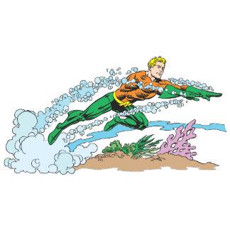 Aquaman Leaps Over Coral