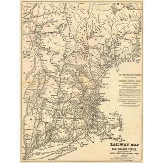 Railway map New England States