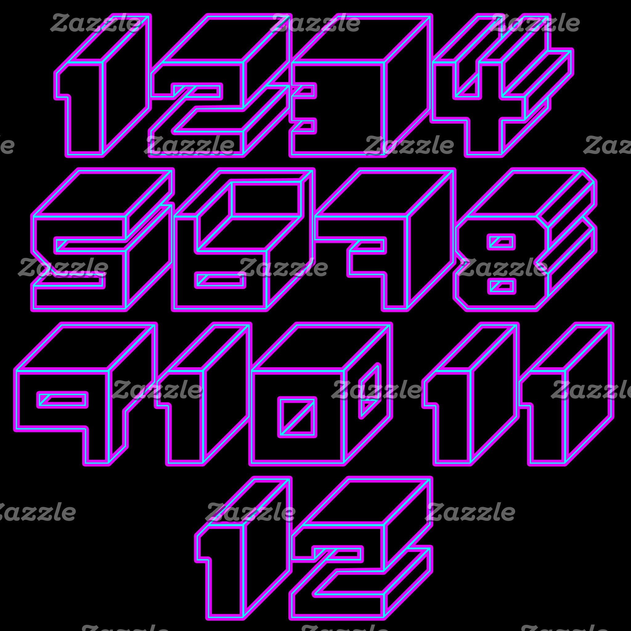1through12 (10 Designs)