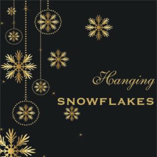 Hanging crystal snowflakes