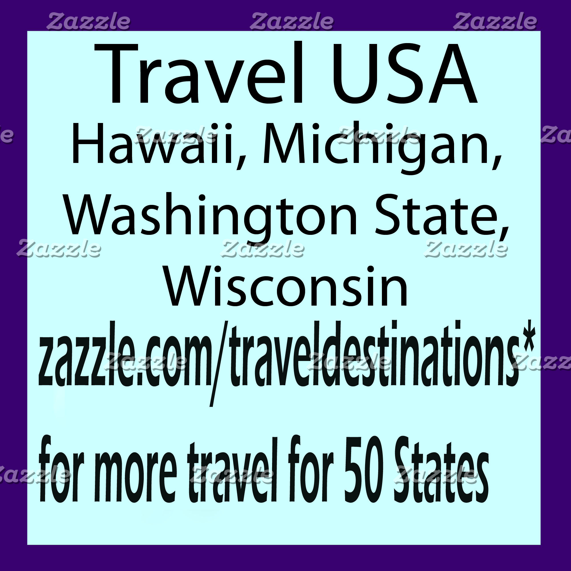 Travel USA - MI, HI, WI, WA