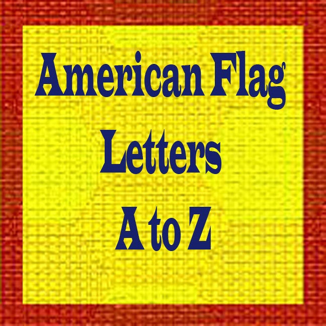 American Flag Letters A to Z