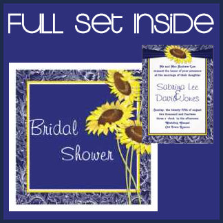 Royal Blue and Yellow Sunflowers Collection