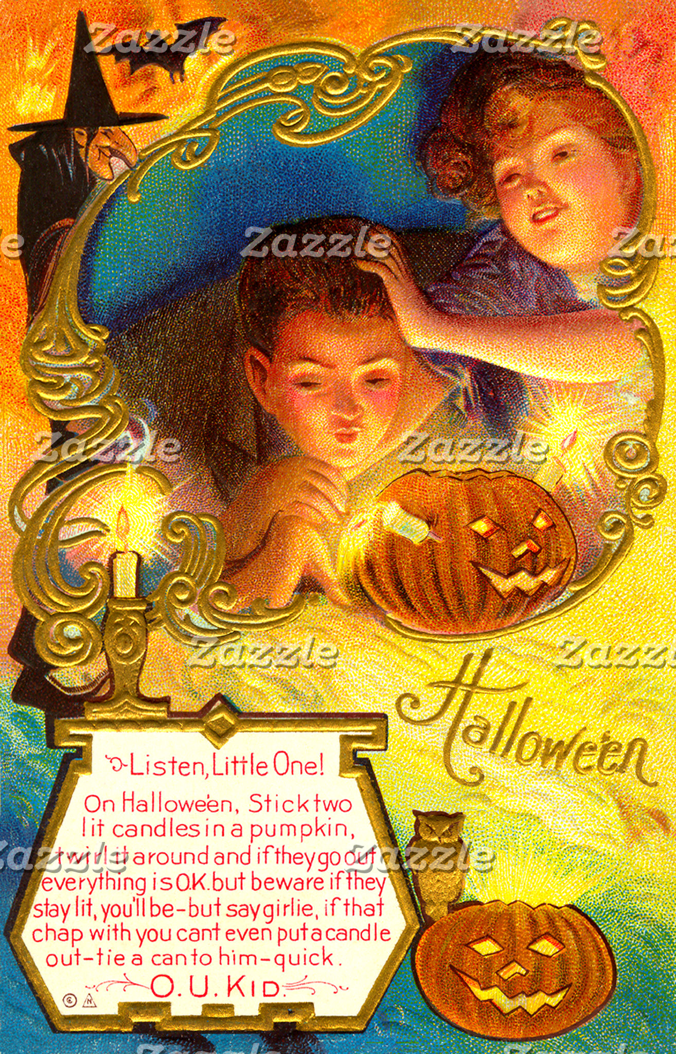 Beautiful Vintage Halloween Postcards