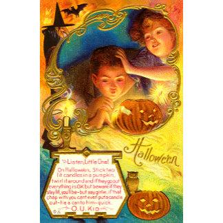 Beautiful Vintage Halloween Postcards