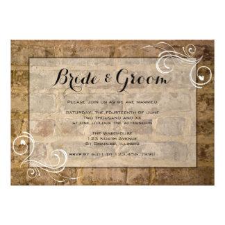 Industrial Chic Bricks Wedding