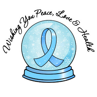 Prostate Cancer Ribbon Merry Christmas Snowglobe