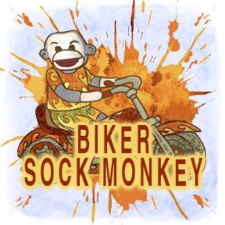 Sock Monkey Biker