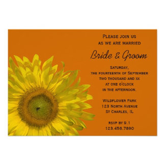 Sunflower on Orange Wedding