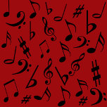 Musical Notes With Red Background.png
