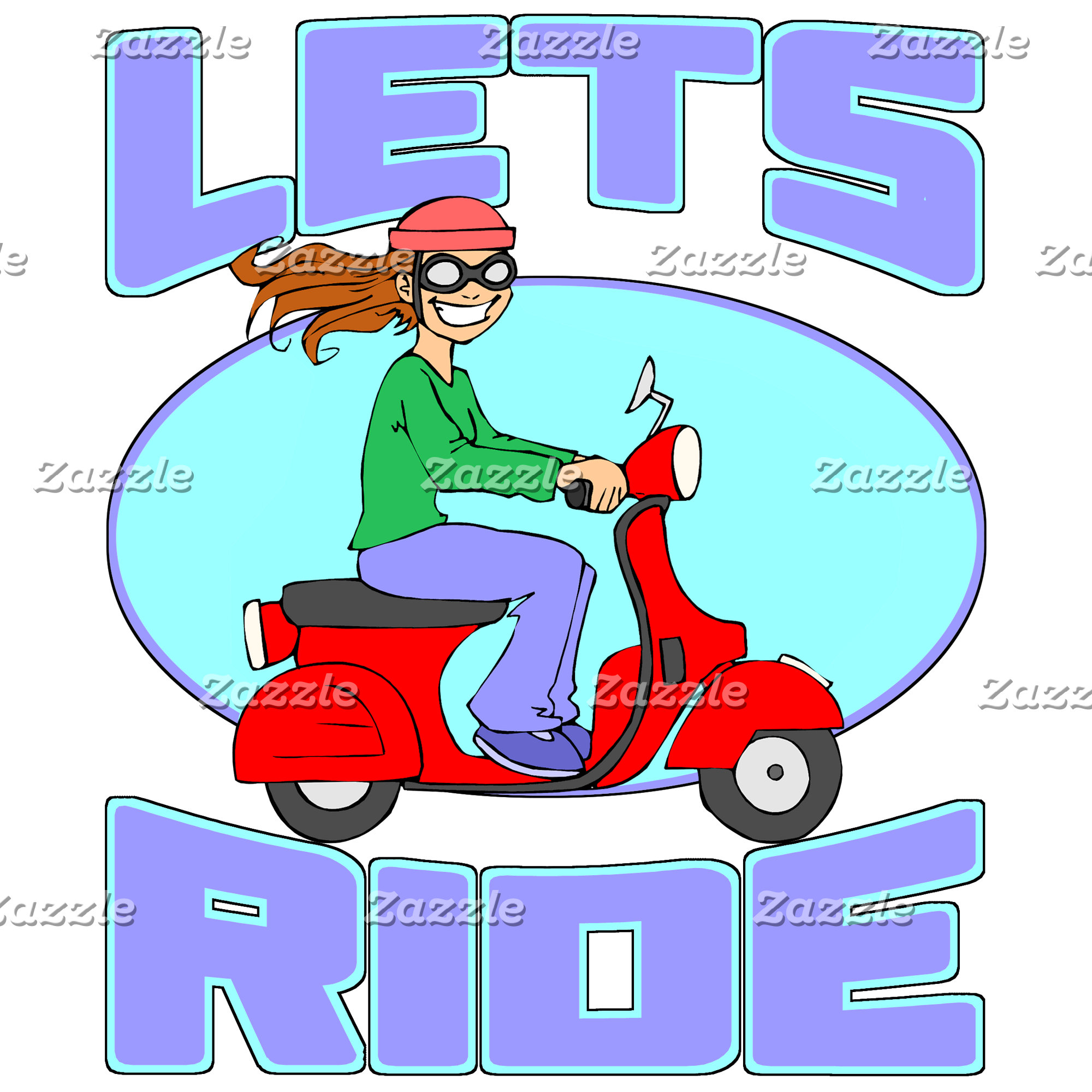 Let's Ride - Scooter Girl Shirts