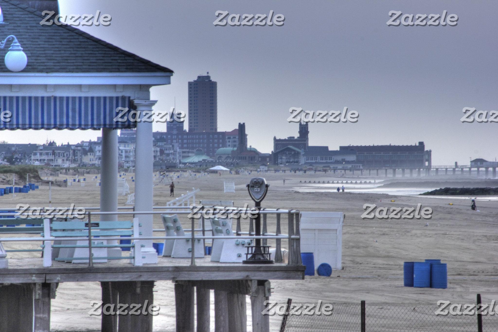 Beach Boardwalk Seaview Beaches HDR
