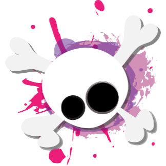 Skull pink and purple splatter