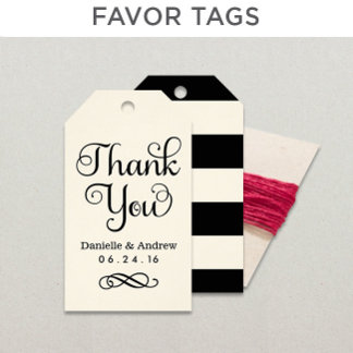 Favor Gift Tags (Cardstock)
