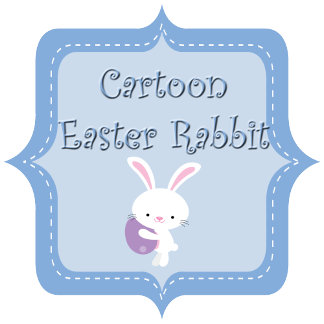 Cartoon Easter Rabbit with Stripes