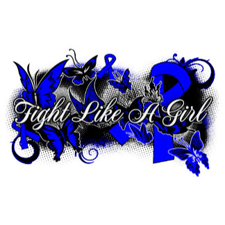 Rectal Cancer Fight Like A Girl Grunge Butterfly