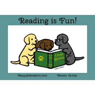 Labrador Puppies Reading