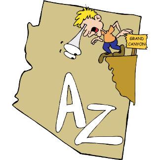 U.S. States Funny Cartoon Designs