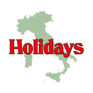 Holidays. Christmas, Columbus Day, Easter etc.