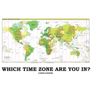 Which Time Zone Are You In? (World Map Time Zones)