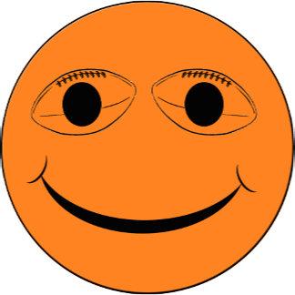 SMILEY FACE FOOTBALL EYES