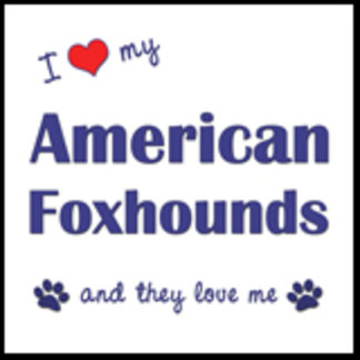 I Love My American Foxhounds (Multiple Dogs)