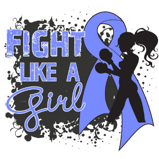 Stomach Cancer Fight Like A Girl Grunge
