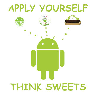 Apply Yourself Think Sweets (Bug Droid Humor)