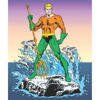 Aquaman Stands With Spear