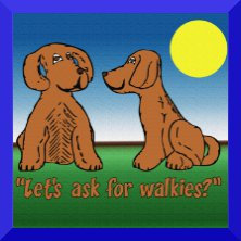 Let's ask for walkies