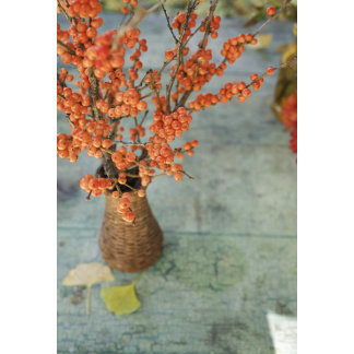 """""""Berry Bouquet in Vase Photo Poster Print"""""""