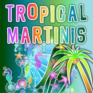 Tropical Martini Recipe Cards