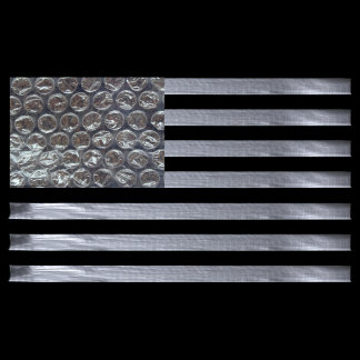 Bubble Wrap and Duct Tape Flag
