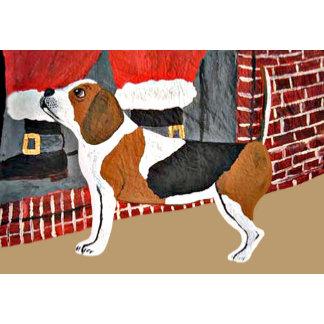 Beagle Watch Dog On Christmas Eve